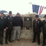 Fallen Peace Officer Trail plaque with friends